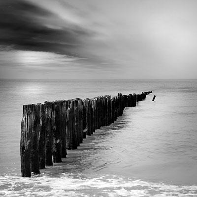 zwart wit fotos zee